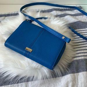 Blue jewel thirty-one leather crossbody purse